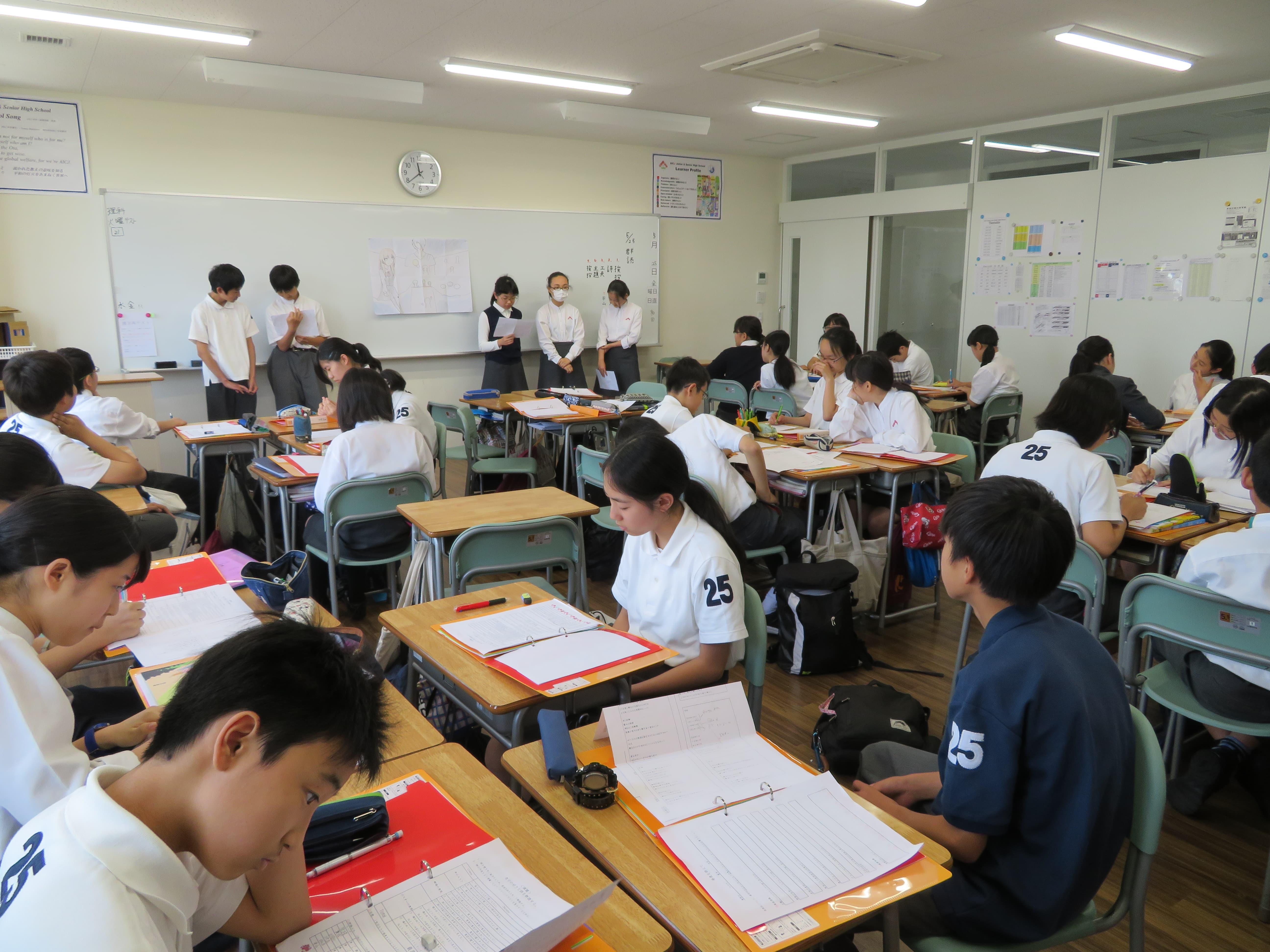 授業の様子(G8国語)